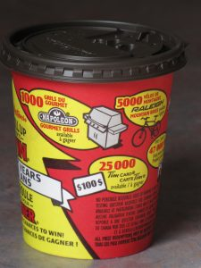 """Tim Hortons ' Roll Up The Rim"""" Cup"""