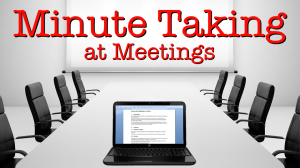 Minute Taking Online web-based Course