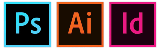 Adobe Photoshop, Illustrator, InDesign