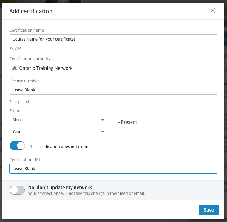 Add Your Workshop Completion Certificate To Linkedin
